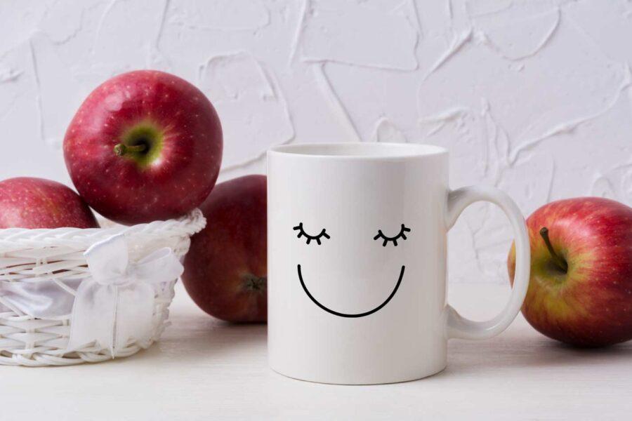 kubek na walentynki uśmiech