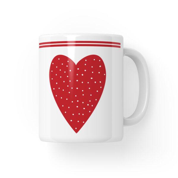 kubek walentynkowy serce-z-kropkami